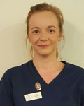 Jodie Elsworth, nurse at The Dam Veterinary Centre